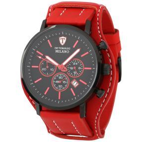 "DETOMASO Chronograph ""Milano XL"" schwarz-rot"