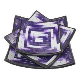 Darimana Mosaik-Schalen 3-teilig lila