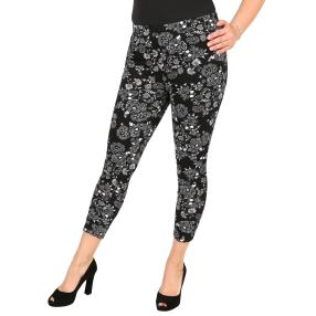 Damen-Thermo-Leggings 'Lilly' schwarz/weiß