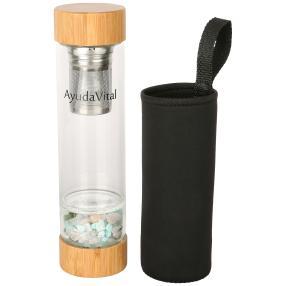 Ayuda Vital Flasche Edelsteine und Teesieb 500 ml