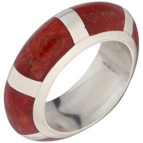 Ring 925 St. Silber Schaumkoralle rund