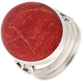 Ring 925 St. Silber Schaumkoralle oval