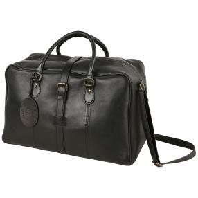 FreiGut Leder Reisetasche, schwarz, Vintagelook
