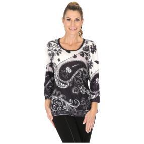 BRILLIANTSHIRTS Shirt 'Seriate' schwarz/weiß/grau