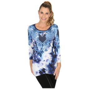 BRILLIANTSHIRTS Shirt 'Legano' blau/weiß