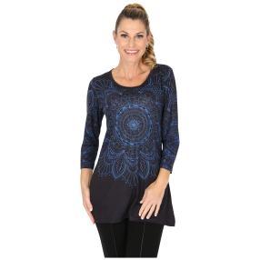 BRILLIANTSHIRTS Shirt 'Tivoli' schwarz/blau