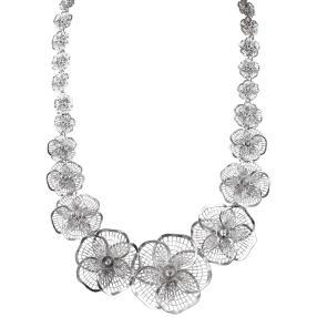 Blumencollier 925 Sterling Silber