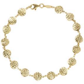 Armband 925 St. Silber vergoldet beidseitig