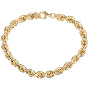 Kordel-Armband 750 Gelbgold