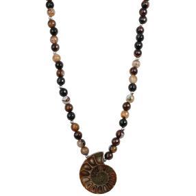 Collier Netzachat mit Ammonit