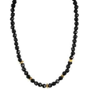 Collier Onyx hexagonal