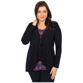 CANDY CURVES Shirt 2 in 1-Optik multicolor