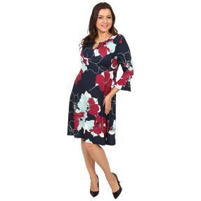 CANDY CURVES Kleid mit Schmuckelement multicolor