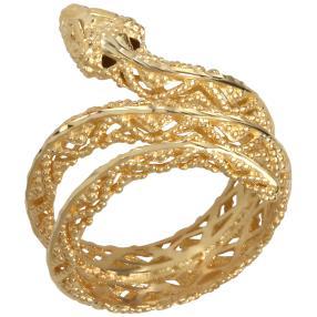 Schlangenring 585 Gelbgold