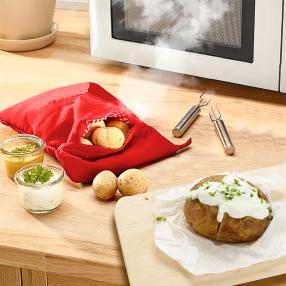 Mikrowellen-Kartoffelgarer inkl. 2 Kartoffelgabeln