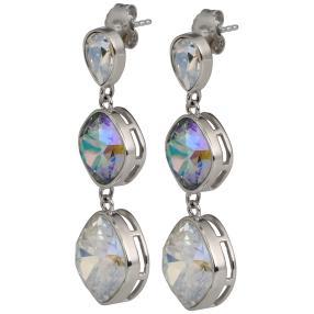 Ohrhänger 925 St. Silber mit Swarovski® Kristallen