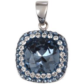 Anhänger 925 St. Silber m. Swarovski® veilchenblau