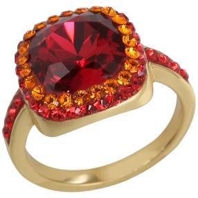 Ring 925 Silber m. Swarovski® Kristall, poliert