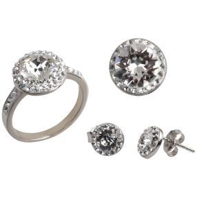 Set 3tlg. 925 St. Silber mit Swarovski® Kristallen