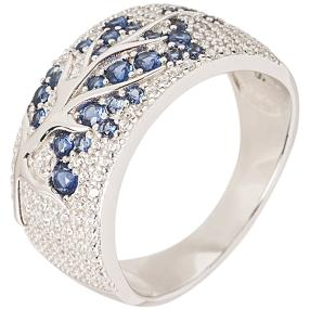 "Ring 925 Sterling Silber ""Tansanit"" Zirkonia"