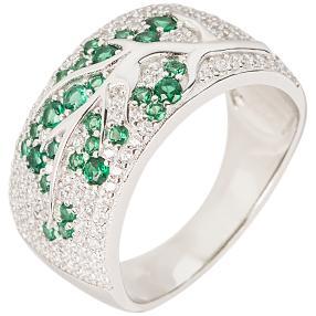 """Ring 925 Sterling Silber """"Smaragd"""" Zirkonia"""