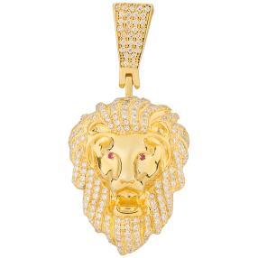 Anhänger 950 Sterling Silber vergoldet Löwe