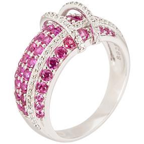 """Ring 925 Sterling Silber """"Rubin"""" Zirkonia"""