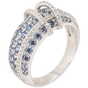 "Ring 925 Sterling Silber ""Saphir"" Zirkonia"