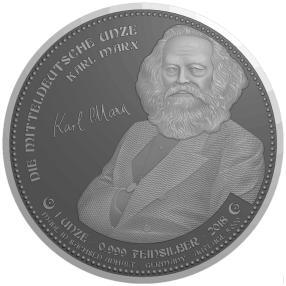 Mitteldeutsche Unze 2018 Karl Marx