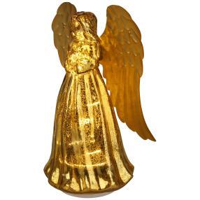 LED-Glasengel gold
