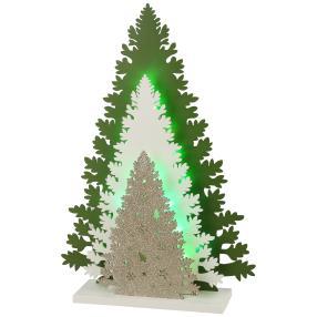 LED-Holzdeko Winterszene
