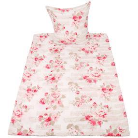 Rose Dream Bettwäsche 2-teilig, weiß/rosa