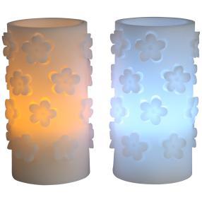 LED-Kerzen Blumen 2tlg.
