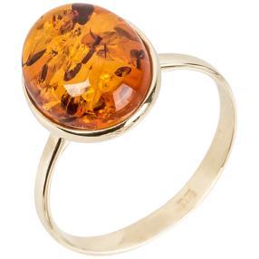 Ring 375 Gelbgold Bernstein