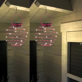 Solar Spiral-Lampion pink 2er