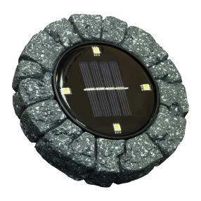 LED Solar-Bodenstrahler 2er Steinoptik