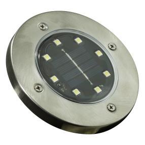 LED Solar-Bodenstrahler 2er Edelstahl