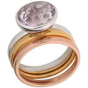 Ring 925 Sterling Silber Fluorit zartrosa