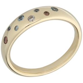 Ring 375 Gelbgold AAAZirkon multicolor
