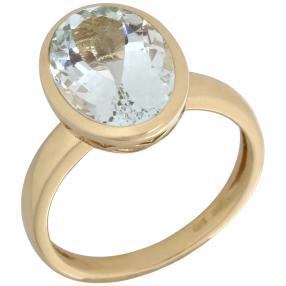 Ring 375 Gelbgold AAAquamarin