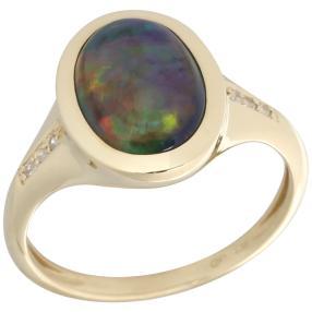 Ring 585 Gelbgold AAAKristallopal