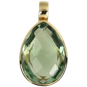 Clipanhänger 925 St. Silber vergoldet AAAFluorit