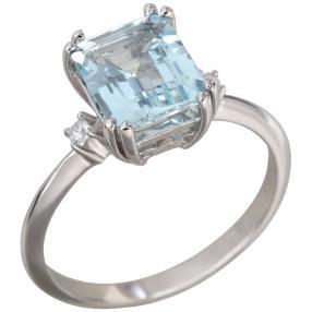 Ring 585 Weißgold AAAquamarin