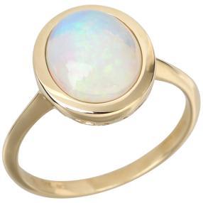 Ring 375 Gelbgold Äthiopischer AAAKristallopal