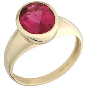 Ring 585 Gelbgold AAARubellit