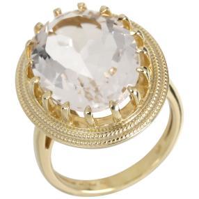 Ring 925 Sterling Silber vergoldet AAABergkristall