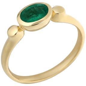 Ring 585 Gelbgold Äthiopischer AASmaragd