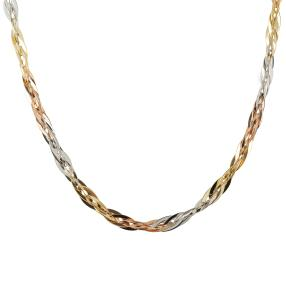 Collier Phantaasie tricolor 750 Gold