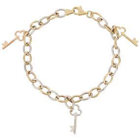 """Armband """"Schlüssel"""" tricolor 750 Gold"""