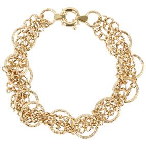 Armband 750 Gold bicolor ca. 20cm